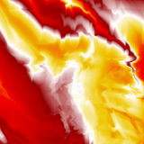 Fiery Background. Abstract fractal background suggestive of intense yellow and red flames Royalty Free Stock Photo