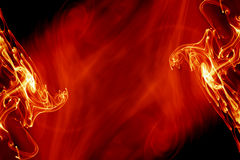 Fiery background. Magical bright red fiery background Stock Photography