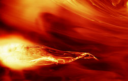 Fiery background. Smooth red hot fiery background Stock Image