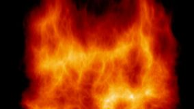 fiery background animation / imitation of powerful fire like wood burn Stock Photos