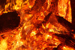 Flaring heat fire and coals Royalty Free Stock Photos