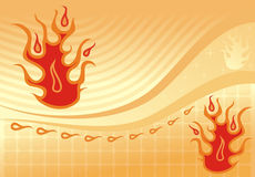 Fiery background, vector. Fiery background, abstract design, vector illustration Stock Photography