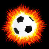 Fiery ball Stock Images
