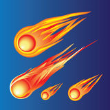 A fiery ball. A fiery ball flying in the languages of flame. Vector Royalty Free Stock Photos
