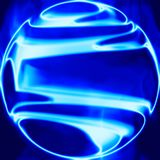 Fiery ball of blue flames Royalty Free Stock Photos