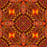 Fiery bandana print in mexican style. Seamless vector pattern.  stock illustration