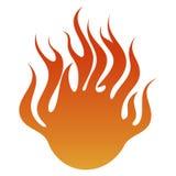 Fiery banner Stock Photos