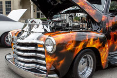 Fiery Black Pick-up Royalty Free Stock Photo