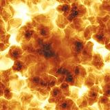 Fiery BLAST. Illustration of a fiery red explosion - very realistic Stock Photography