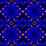 Fiery blue seamless pattern Royalty Free Stock Images