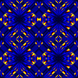 Fiery blue seamless pattern Stock Images