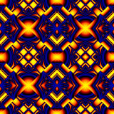 Fiery blue seamless pattern. Stylized like stained glass in the form of different elements stacked rhombus with refraction and reflection of light Royalty Free Stock Image