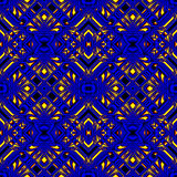 Fiery blue seamless pattern Stock Image