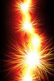 Fiery Bolt. Graphic illustation of Fiery Bolt Royalty Free Stock Photo