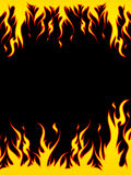Fiery border. Illustration of flames on a black background Stock Photography