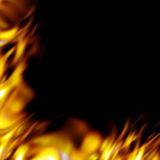 Fiery border. Graphic flames border - add some fiery hot blazes to your designs Royalty Free Stock Photos
