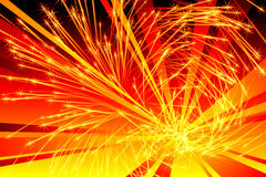 Fiery Burst Royalty Free Stock Images