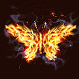 Fiery Butterfly. Illustration of a butterfly made of fire Royalty Free Stock Image