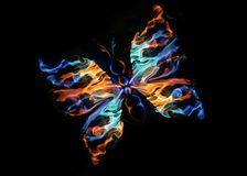 The fiery butterfly royalty free stock photography