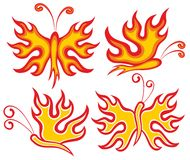 Fiery butterfly. Logo of a fiery butterfly Royalty Free Stock Images