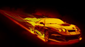 The Fiery Car Royalty Free Stock Image
