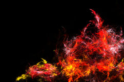 Fiery Cavern. Abstract fractal background design, horizontal Stock Photography