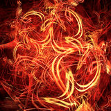 Fiery celebratory background. From bright dynamic fractal Royalty Free Stock Images
