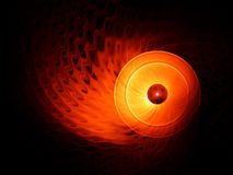 Fiery circular motion on black background Royalty Free Stock Images