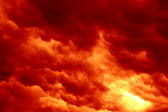 Fiery clouds Royalty Free Stock Photography