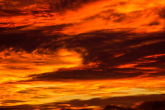 Fiery clouds Stock Photos