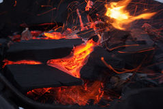 Fiery coal Royalty Free Stock Photography