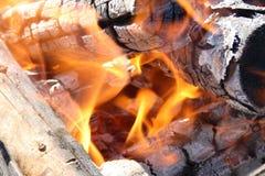 Fiery coals Stock Image