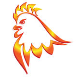 Fiery cock Stock Images