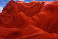 Fiery color in the stone. The famous Antelope Canyon in the Navajo Indian Reservation. U.S Stock Photo