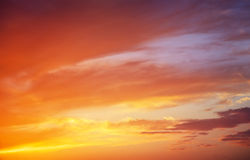 Fiery colorful sunset sky. Royalty Free Stock Photos