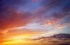 Fiery colorful sunset sky. Stock Image