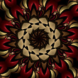 Fiery compass kaleidoscope. Abstract fractal image resembling a fiery compass kaleidoscope Royalty Free Stock Image