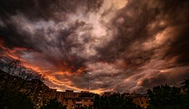 Fiery Darkness Before The Storm Royalty Free Stock Photo
