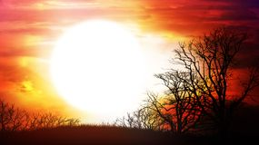 Fiery dawn. Computer generated  for your projects Stock Image