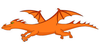 Fiery dragon Royalty Free Stock Photography