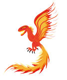 Fiery element. Soaring spirit of fire. Vector Stock Photography