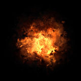 Fiery Exploding Burst. Realistic fiery explosion busting over a black background Royalty Free Stock Images