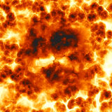 Fiery explosion. Closeup view and detail Royalty Free Stock Images