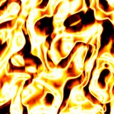 Fiery explosion. Background illustration of red hot blaze Stock Photo