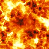 Fiery explosion. Computer generated illustration of blazing forest fire Stock Photography