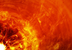 Fiery explosion Royalty Free Stock Photo