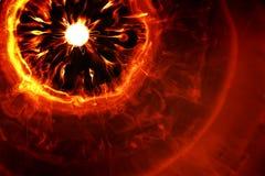 Fiery explosion Royalty Free Stock Photo