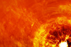 Fiery explosion. Red and orange fiery explosion Stock Photo