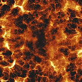 Fiery explosion. Rendererd illustration of fiery explosion and flames texture Stock Photography