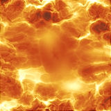 Fiery explosion. Rendererd illustration of fiery explosion and flames texture Royalty Free Stock Photography